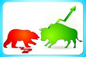 Bär und Stier in Grafik