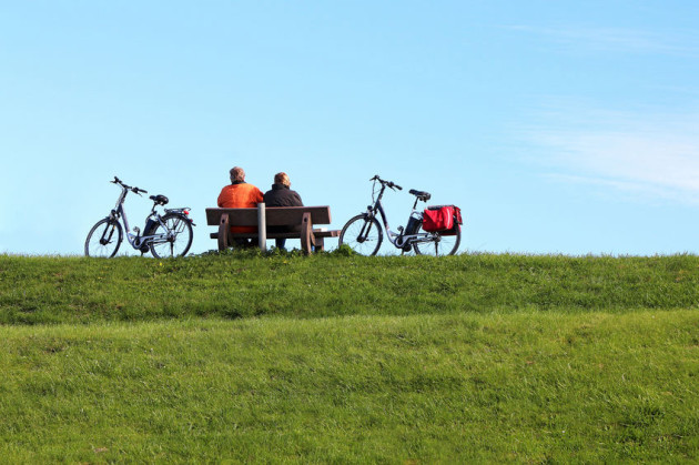 Mobil mit dem Fahrrad