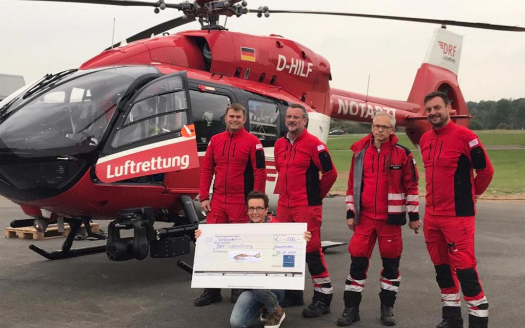 Crew der DRF Lufrettung Rendburg